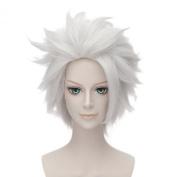 Anogol® Free Hair Cap+ Short Layered Silver White Bleach Cosplay Wig Hitsugaya Toushirou DM-509