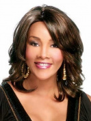 Marian® Fashion Hairstyles Medium Length Sythetic Wavy Bob Wig for Women with Bangs +A Free Wig Cap