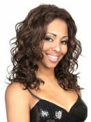 Marian® Fashion Sw0140 Layered Medium Length Sythetic Curly Fluffy Wig for Women Black + a Free Wig Cap