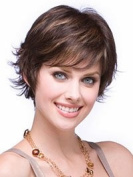 Marian® Fashion Layered Synthetic Short Wavy Wigs for Women with a Wig Cap