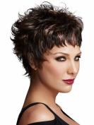 Marian® Fashion Layered Synthetic Short Straight Wigs for Women Stand with a Wig Cap
