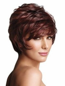 Marian® Fashion Layered Synthetic Short Straight Wigs for Women with Bang + a Wig Cap