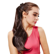 DDLBiz 1PC High Temperature Wire Wig Ponytail Long Straight Hair Micro-volumes
