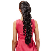 DDLBiz 1PC High Temperature Wire Wig Ponytail Black Long Curly Hair