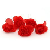 MyMei® Bridal Camellia Flower Pattern U Hair Pin Hairpin Clip Bob For Wedding Party Red 3pcs