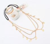 Mosunx(TM) Bohemian Fashion Women Retro Gold Leaves Head Chain Tassel Hair Band
