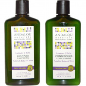 Andalou Naturals Lavender & Biotin Full Volume Shampoo & Conditioner Hair Loss Solution With Biotin Growth Serum, Aloe Vera Extract and Jojoba Oil For Men & Women, 340ml each