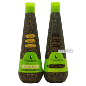 Macadamia Rejuvenating Shampoo and Moisturising Rinse Conditioner 300ml Duo