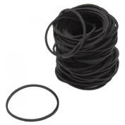 RuiChy 100pcs Rubber Band Supplies for Tattoo Machine Black