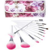 Youngman 12pcs Professional Cosmetic Makeup Brush Set for Face/eye/lip