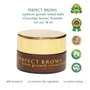 Eyebrows Growth Accelerator Balm Perfect Brows (Chocolate Brown Colour) Growth and Shine Balm for Fuller and Darker Brows. Improve Thinning Eyebrows with This Natural Treatment Enriched with Provitamin B5, Vitamins A and E
