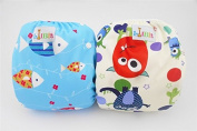 LilBit 2 pcs Pack Baby Infant Unisex Waterproof Swim Nappy SD07