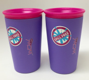 Wow Cup for Kids - NEW Innovative 360 Spill Free Drinking Cup - BPA Free - 270ml (Purple), 2 Pack