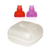 ChooMee Travel Case   White + 2 Sip'n Soft Tops   Red Purple