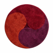 Grund Designer Area Rug-Aum, Red, 100cm x 100cm