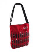 Red Canvas Printed Coca-Cola Bottles Cross Body Bag