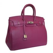 Carbotti Designer Classico Italian Leather Handbag Celebrity Bag - Purple
