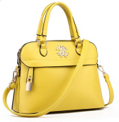 Forkidlove® Boutique Office Lady Women Leather Top Handle Handbag Cross Tote Shell Bags with Lock