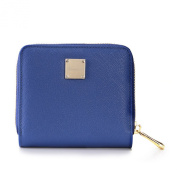 Teemzone Womens Leather Bifold Wallet with Coin Pocket Purse Pouch with Zipper Closure
