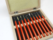 WAX CARVING TOOLS METAL ART CLAY MODEL SCULPTING CARVER SET OF 10 TOOLS BOXED (LZ 1.4 FRE) NOVELTOOLS