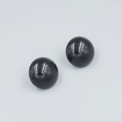 Bluemoona 200 Pcs - DIY Glossy BLACK ROUND SAFETY PLASTIC Eyes FOR SOFT TOY SNAP DOLLS CRAFTS Screws 6MM