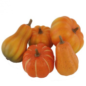FloristryWarehouse Artificial Autumn Pumpkin selection x5 assorted Pumpkins