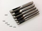 Rossimoda Set of 6 Pcs Craft Tool Die Punch .3.0-4.0-5.0-6.0-7.0-8.0mm