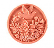 1 Piece Artistic Soap Mould Silicone Soap Mould Bird Flower DIY Mould 75*75*34mm