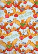 CHRISTMAS PARTY ROBINS - Merry Christmas - QUALITY Christmas Gift Wrapping Paper - 6 SHEETS & 6 ROBIN GIFT TAGS - Emma Ball Design