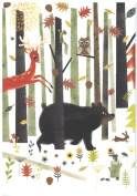 "Bear Deer Owl Boxed Christmas Cards ""Weekend Retreat"""