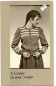 A Straker Classic Design Knitting Pattern - #877-C Song of Norway Cardigan