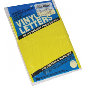 Graphic Products Permanent Adhesive Vinyl Letters and Numbers (167 Pack), 5.1cm , Yellow