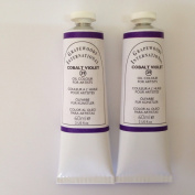 Cobalt violet,extrafine oil paints(two handmade oil colour tubes 60ml each).