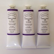Cobalt violet,extrafine oil paints(three handmade oil colour tubes 60ml each).