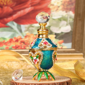 H & D Vintage 5ml Empty Refillable Floral Crystal Jewel Fragrance Perfume Bottle