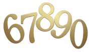 10cm Shimmer Gold self-adhesive Chipboard Table Numbers for Wedding / Banquets
