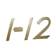 7.6cm Slim Gold Glitter self-adhesive Chipboard Table Numbers for Wedding / Banquets