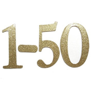 10cm Gold Glitter self-adhesive Chipboard Table Numbers for Wedding / Banquets