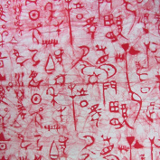Unique Chinese Pictograph Ice Lines Texture Handmade Batik Fabric 100% Cotton