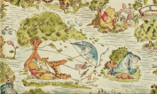 "1 Yard ""Pooh's Day in the Park"" 100% Cotton Fabric - Winnie-the-Pooh, Eeyore, Piglet & Tigger (Great for a Quilt Back, Quilting, Sewing, Craft Projects, Throw Pillows & More) 1 Yard X 110cm Wide"
