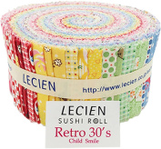 Retro 30's Child Smile 2015 Spring Sushi Roll 42 6.4cm Strips Jelly Roll Lecien
