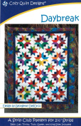 Daybreak Quilt Pattern, Jelly Roll 6.4cm Strip Friendly, Cosy Quilt Designs, 6 Size Options