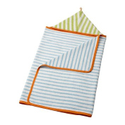 STÄNKA Baby towel with hood, light blue, green / 1 pieces ./Good to know Recommended for ages from 0 year.