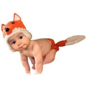 Babies Girls Boys Toddlers Crochet Knitted Fox Set Photo Prop