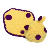 Baby Handmade Crochet Knit Sika Deer Animal Warm Hat Beanie Photograph Props, Yellow