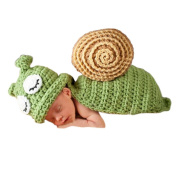Cute Cartoon Snail Style Infant Newborn Hand Knitted Crochet Hat Costume Baby Photograph Props Set