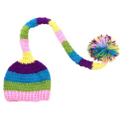 Baby Infant Hand Knitted Long Ball Hat Costume Photo Photography Props