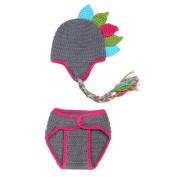 Cartoon Handmade Newborn Baby Girls Boys Toddler Crochet Knitting Beanie Hat Photograph Photo Prop Costume