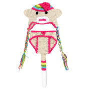 Baby Girls Newborn Suit Photography Props Outfit Monkey Cap and Short Pant Set