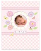 C.r. Gibson Sweet Baby Girl Baby Keepsake Memory Book, Flowers, Butterfly